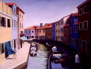 "Bill Krueger ""Venice Morning"", 2007, Oil on Canvas, 30"" x 40"""